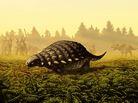 Panoplosaurus / © Julius T. Csotonyi / PLOSone. Creative Commons 4.0 International (CC BY 4.0)