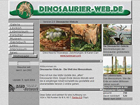 Dinosaurier-web.de, Version 2.6 (2004)