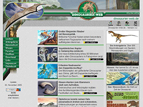 Dinosaurier-web.de, Version 3.2, 2005